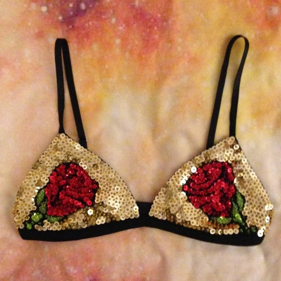 Discount Universe Other - Discount Universe rose sequin bra